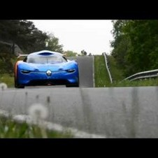 Renault Alpine A110-50 in motion @Mortefontaine racetrack