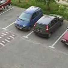 Woman Reversing Out Of Her Parking Spot _ Funny